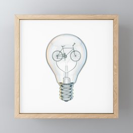 Light Bicycle Bulb Framed Mini Art Print