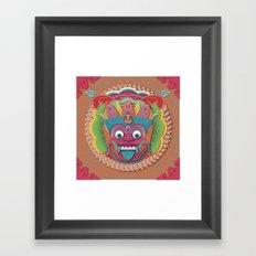 Scary Bali Monster Framed Art Print