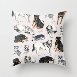Sweetie, Lumi, and Saunders Throw Pillow