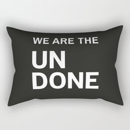 Stop Wait Sit - Undone Rectangular Pillow