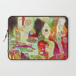 """""""Rooted In Love"""" Original Painting by Flora Bowley Laptop Sleeve"""