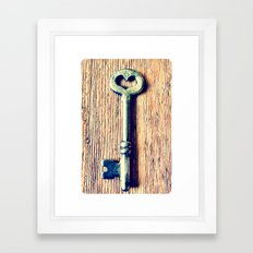 Heart Shaped Key Framed Art Print