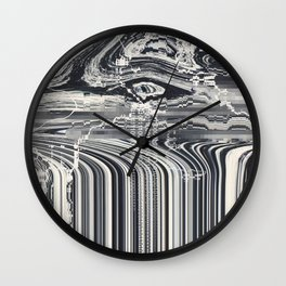 Eye Glitch Art Wall Clock