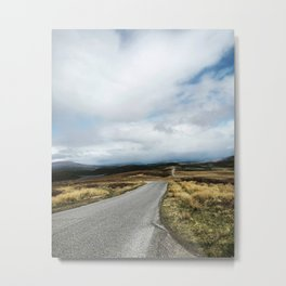 The road (so far) - Scotland Metal Print