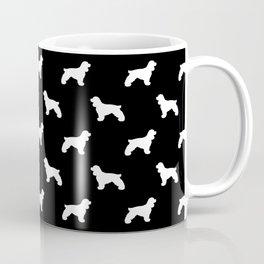Cocker Spaniel black and white minimal modern pet art dog silhouette dog breeds pattern Coffee Mug