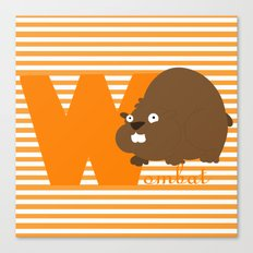 w for wombat Canvas Print