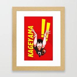 Haikyuu!! Intense Kageyama!! Framed Art Print