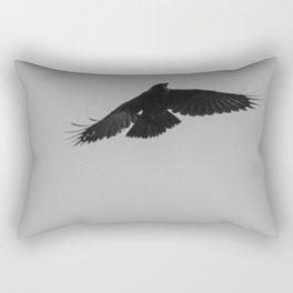 Crow flying Rectangular Pillow