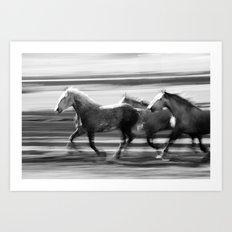 Galloping Horses Art Print