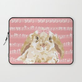 Bunny Composition (beige/pink) Laptop Sleeve