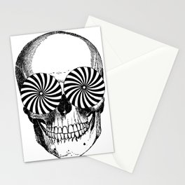 Black & White - Optical Skull Stationery Cards