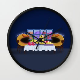 """""""You prepare a table before me in the presence of my enemies."""" Psalm 23:5 Wall Clock"""