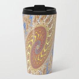 Fractal Double Spiral Travel Mug