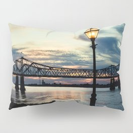 Mississippi River Bridge Natchez Pillow Sham