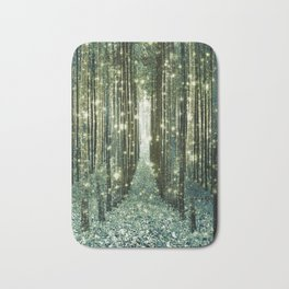Magical Forest Old Money Green Bath Mat