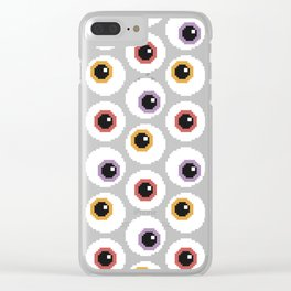 Pixel Eyeballs Clear iPhone Case
