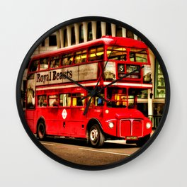 Trafalgar Square London Double Decker Bus Wall Clock
