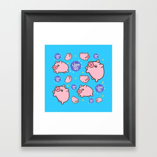 Piggies Framed Art Print