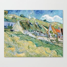 Thatched Cottages and Houses by Vincent van Gogh Canvas Print