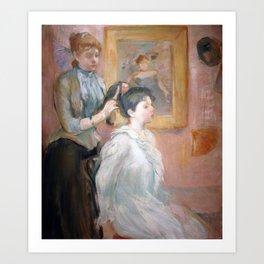 La Coiffure by Berthe Morisot Art Print