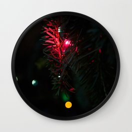 Little red Christmas tree light decoration Wall Clock