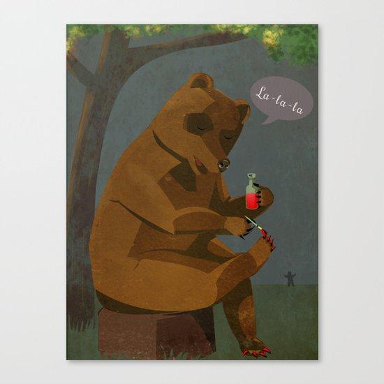Mrs. Bear Canvas Print
