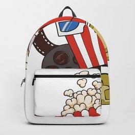 Filmmakers, Cinema and Film Fans Popcorn Design Backpack