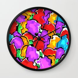 Colorful Scrambled Eggs Wall Clock