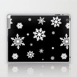 Snowflakes | Black & White Laptop & iPad Skin