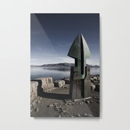 Sculpture, Reykjavik, Iceland Metal Print