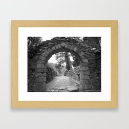 Through the Arch Framed Art Print