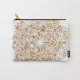 Mandala Multi Metallic in Gold Silver Bronze Copper Carry-All Pouch