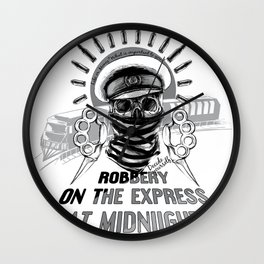 Robbery on the express Wall Clock