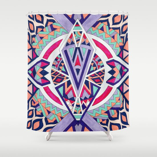 Abstract Journey II Shower Curtain