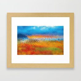 colorful vibrations Framed Art Print