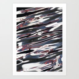Red and Black Swirls Art Print