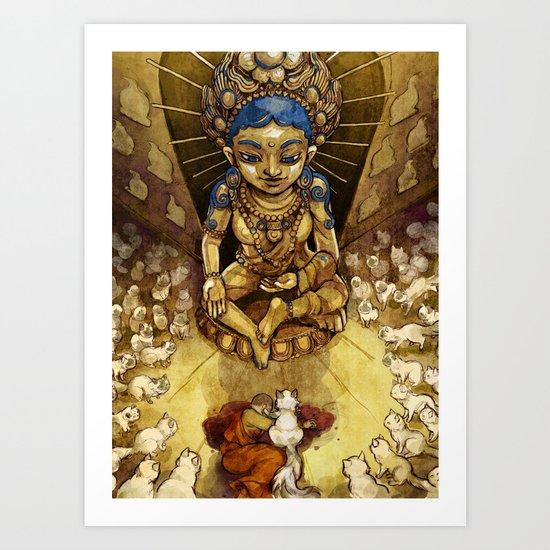 Sacred Cats of Burma Art Print