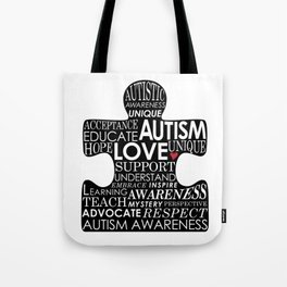 Autism Awareness Love Tote Bag