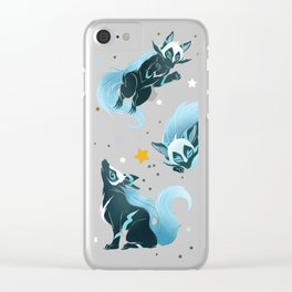 Cosmic Wolf Clear iPhone Case