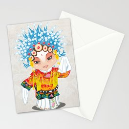 Beijing Opera Character SunShangXiang Stationery Cards