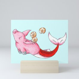 Piggybank of the Sea Mini Art Print