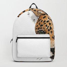Leopard Bust Backpack