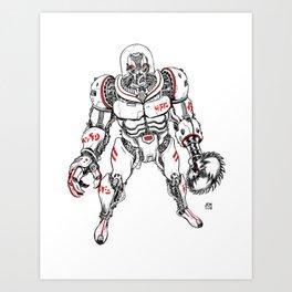 Killer Robot!!! Art Print