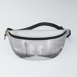 New York City and Brooklyn Bridge Winter/Christmas Fanny Pack