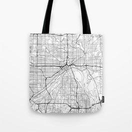 St Paul Map White Tote Bag