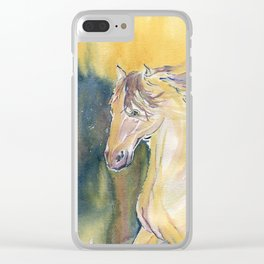 Horse Spirit Clear iPhone Case