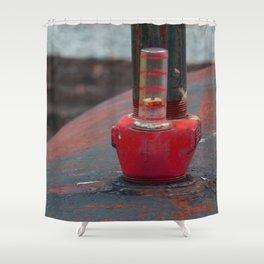 Oil Tank Gauge Shower Curtain