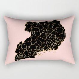 Uganda map Rectangular Pillow