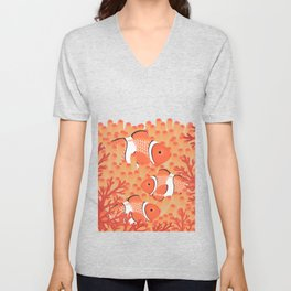 Clown fish - Mandarin Garnet Unisex V-Neck