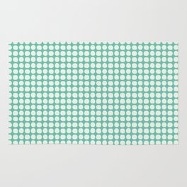 Along the Rio Grande: Turquoise Lattice Coordinate Print Rug